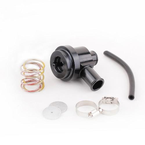Black Aluminum Bypass Diverter Valve for Turbo Saab/Audi/Porsche/VW