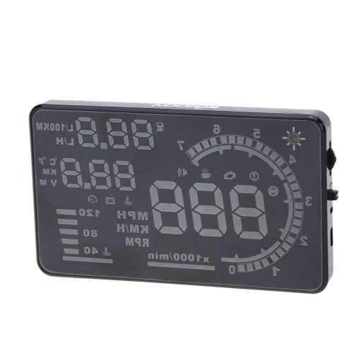 KM//h /& MPH Speeding Warning Windshield Project System OBD2 KKmoon Auto Car HUD Head Up Display 5.5 Inches Large Screen