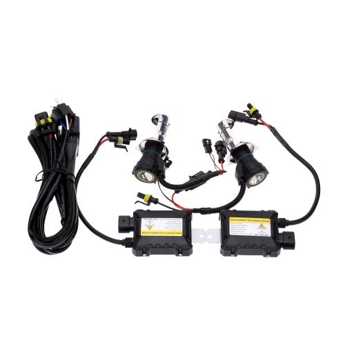 One Set of 12V DC H4 35W HID Xenon Conversion Kit Car Head Lights Double Beam 4300K 6000K 8000K 10000K
