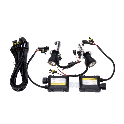 One Set of 12V DC H4 55W HID Xenon Conversion Kit Car Head Lights Double Beam 4300K 6000K 8000K 10000K