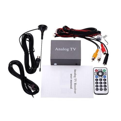 Mini Super Metal Design DVB carro DVD TV receptor fácil instalação Monitor sintonizador de TV analógica sinal forte caixa com antena