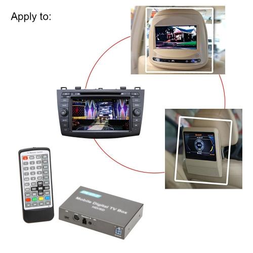 DVB-T HD/SD TV Box Mini diverse canal Mobile Digital TV Tuner analogique haute vitesse 240km/h Signal fort autoradio pour voiture moniteur