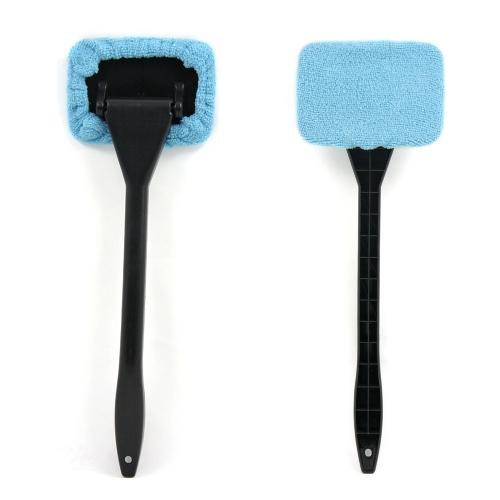 KKmoon New Microfiber Auto Limpiacristales Limpiabrisas Rápido Fácil Brillo Fácil de usar Herramienta de limpieza lavable