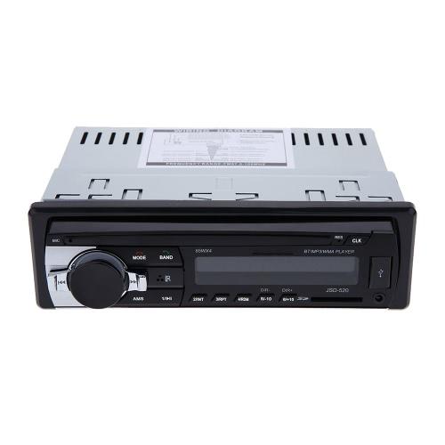 Bluetooth Auto Stereo Radio Lettore Audio Ricevitore In-Dash FM Aux Ingresso Lettore di WMA WAV MP3 con SD/USB Porta