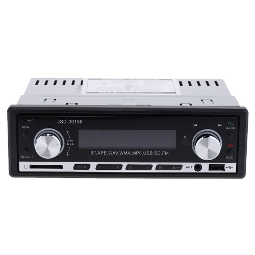Car Stereo Radio Audio Player Receiver In-Dash FM Aux Input WMA WAV MP3 Player with SD/USB Port