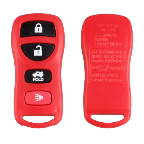New Replacement 4 Button Keyless Entry Remote Key Fob Transmitter Clicker for Nissan Infiniti Red