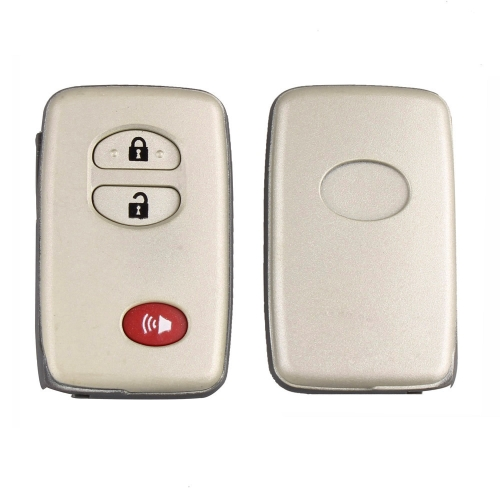 3 Button Remote Key Shell Case Combo Insert Uncut Blade for Toyota Land Cruiser Venza 4Runner