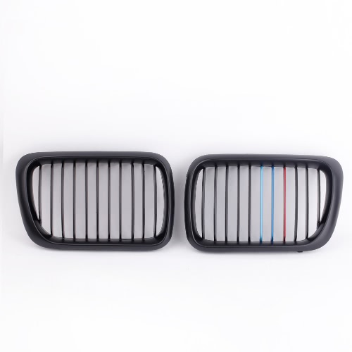 2Pcs Black M-color Front Kidney Grille