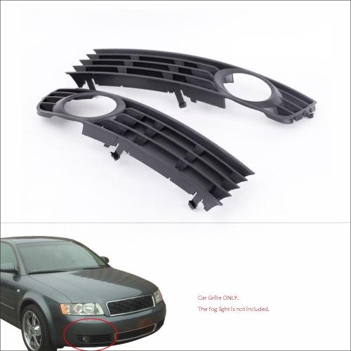 2Pcs Black Front Lower Side Bumper Fog Light Grille for Audi A4 B6 Sedan 2002-2005
