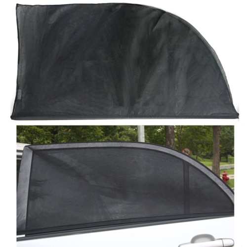 Janela de carro ajustável 2pcs sol máscaras UV proteção escudo malha tampa viseira pára-sóis