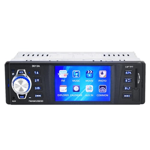 3.6 inch Car MP5 Player Stereo Radio Audio Player Receiver FM Aux Input with SD/USB Port