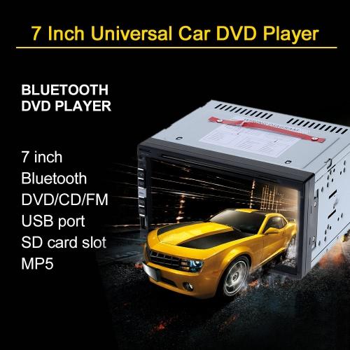 7 Inch 2 Din Car DVD/USB/SD Player HD Multimedia Radio Bluetooth