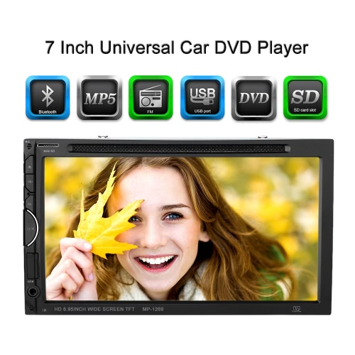 7 Inch Universal 2 Din Car DVD/USB/SD Player
