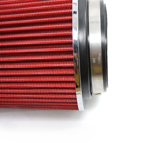 """Universal Car 3"""" Air Filters Clamp-On Stack Filtration Cold Air Intake Filters Dual Funnel Adapter Works For 76-89-101mm"""