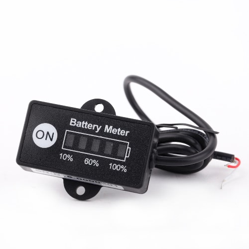12V 24V LED Battery Indicator Level Meter Gauge for Lead-acid Battery