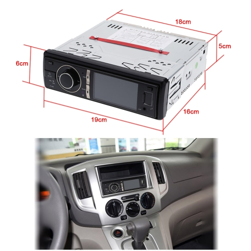 Car Stereo Radio Audio Player Receiver FM Aux CD DVD WMA MP3 Player USB SD Slot Detachable Panel