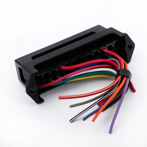 12 forma DC32V circuito coche remolque Auto cuchilla fusible caja bloque ATC ATO 2-entrada 12-salida alambre del portador de