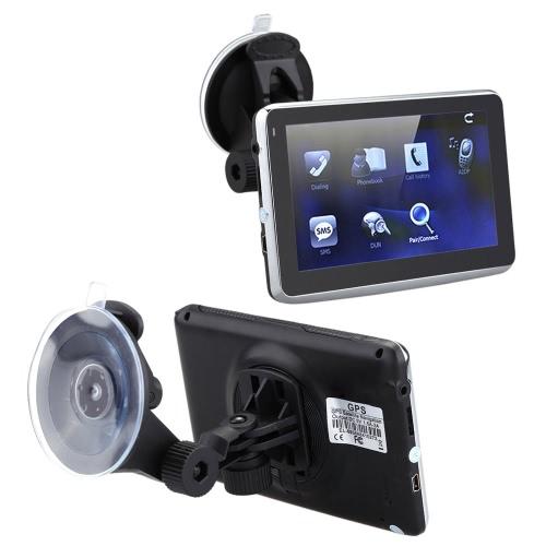 """5"""" HD tactile écran Portable voiture GPS Navigation 128Mo RAM 4 GB FM Video Play Car Navigator avec soutien dorsal + carte gratuite"""