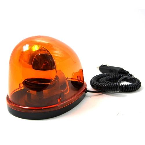 New Magnetic Teardrop Shape DC12V Rotate Beacon Amber Warning Light Emergency Car Truck External Light