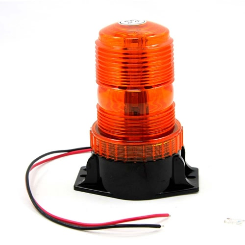 New DC12V-110V Led Mini Strobe Beacon Amber Single Flash Warning Light Emergency Car Truck External Light