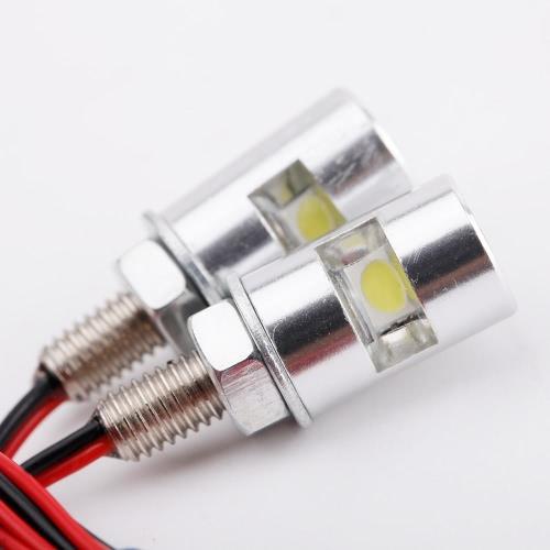 LED licença número placa luz parafuso parafuso lâmpada SMD Universal para moto moto 2Pcs
