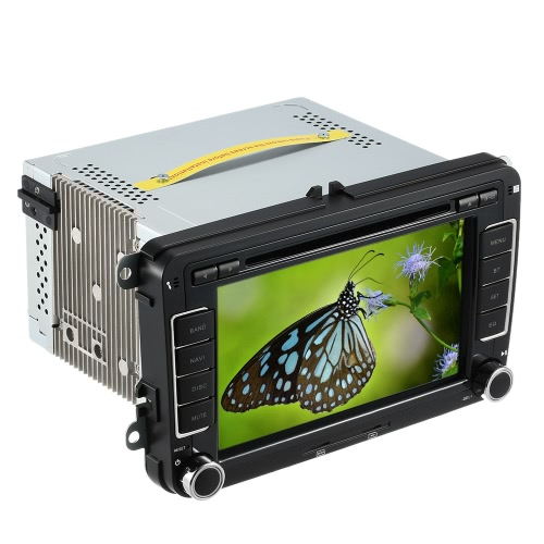 7 HD Car DVD Player GPS Bluetooth Multimedia for VW SAGITAR JETT PASSAT CC SKODA