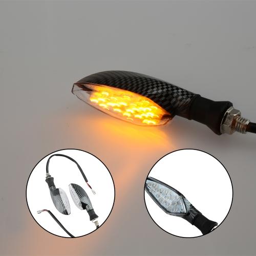 2pcs 12V 16LED Motorcycle Turn Signal Indicator Light Lamp Amber