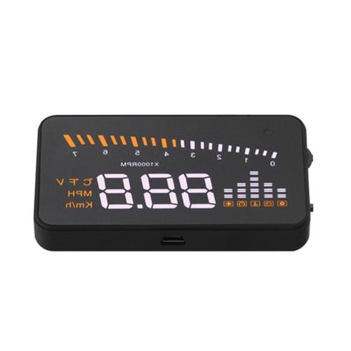 Cabeça de carro universal HUD no Display KM/h e MPH velocidade aviso pára-brisa projeto sistema