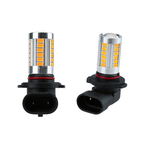 2 X 5630 33-SMD 850LM LED Lampa przeciwmgielna w samochodzie Lampa przeciwmgielna H10 Gniazdo Czerwony Amber