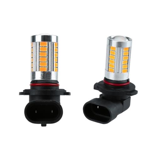 2 x 5630 33-850LM LED voiture Fog lampe SMD ampoule H10 Socket ambre rouge