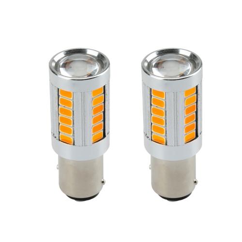 2 X 5630 33-SMD 850LM LED Car Turn Signal Brake Tail Light Lamp Bulb 1157 Socket Red Amber