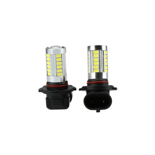 2 X 5630 33-SMD 850LM LED Car Fog Light Lamp Bulb H10 Socket White
