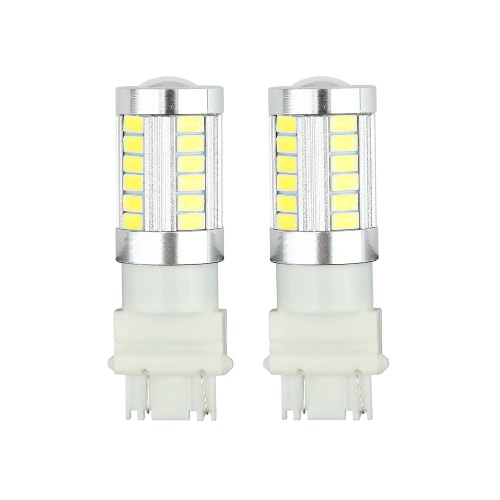 2 X 5630 33-SMD 850LM LED Car Turn Signal Brake Tail Light Lamp Bulb 3157 Socket White