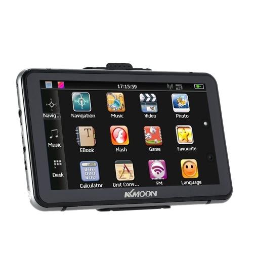 """KKmoon 7 """"HD Ekran dotykowy Przenośny nawigator GPS 128 MB pamięci RAM 4 GB pamięci ROM Odtwarzanie plików MP3 w odtwarzaczu wideo Bluetooth System rozrywki samochodowej z piórem do pisania i bezpłatną mapą"""