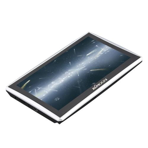 "KKmoon 7"" HD Touch pantalla GPS portátil Navigator 128MB RAM 4GB ROM FM MP3 Video jugar BT sistema de entretenimiento con respaldo + mapa gratis"