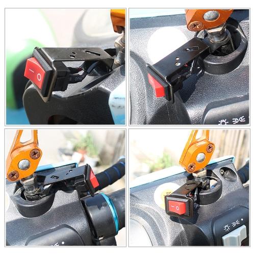 Universal de la motocicleta de la bici eléctrica On / Off Control Interruptor Interruptor DIY Faro