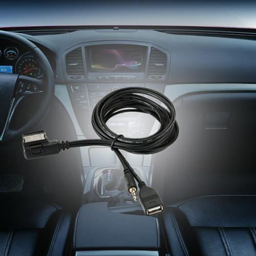 KKmoon Music AMI MMI Interface USB Charger 3.5mm Mini Jack Aux MP3 Cable for VW for AUDI S5 Q5 Q7 A3 A4L A5 A1