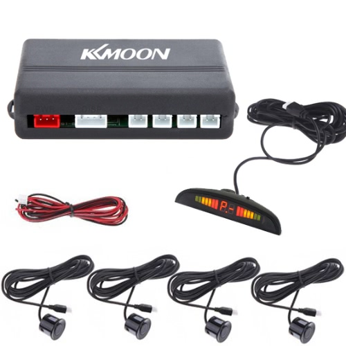 Car LED Parking Reverse Backup Radar System-Black