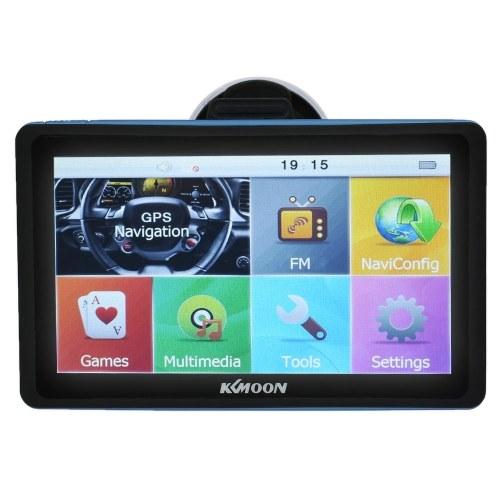 Секундомер KKmoon 7inch HD Сенсорный экран Автомобильный портативный GPS-навигатор 128MB 8GB FM Ebook MP3 Видео плеер Автомобильная развлекательная система с бесплатной картой