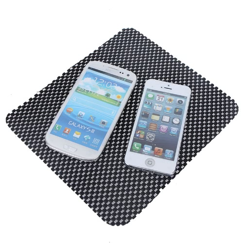 Car Non-slip Dash Mat Dashboard Phone Coin Sunglass Pad Holder Black