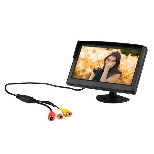 5 «цифровой цветной TFT LCD автомобильный обратный монитор для камеры заднего вида DVD Видеомагнитофон
