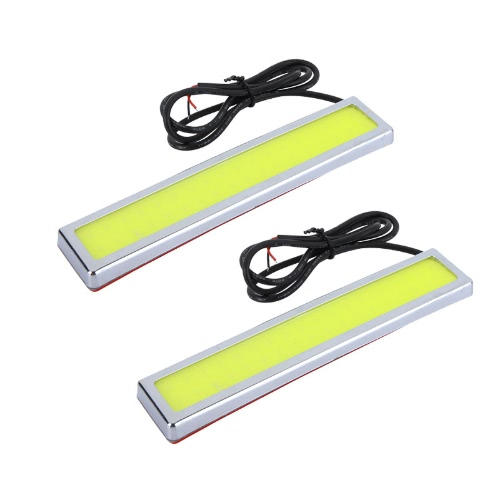 2Pcs 5W Super Bright LED Car Fog DRL Daytime Running Lights Waterproof Ultra-thin 36 Chips Silvery