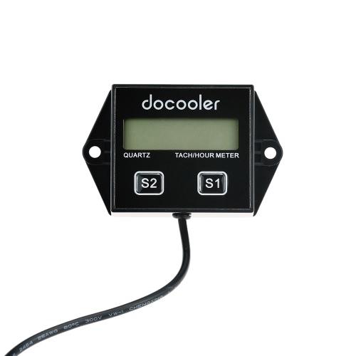 Docooler Tach Tachometer Hour Meter Gauge