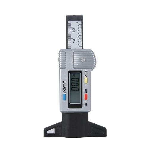Digital LCD Reifen Reifen Lauffläche Tiefe Lehre 0-25.4mm