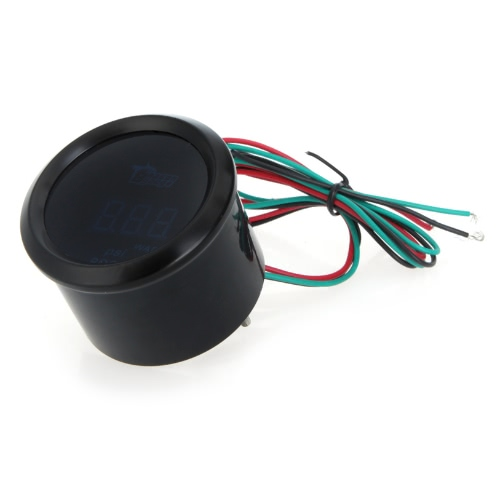 Digital Oil Temp Temperature Meter Gauge with Sensor for Auto Car 52mm 2in LCD 40~150 Celsius Degree Warning Light Black