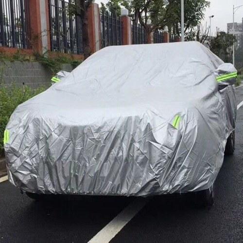 Автомобильные чехлы с полной защитой от седана с светоотражающей полосой Солнцезащитный крем Защита от ультрафиолетовых лучей Устойчивый к царапинам