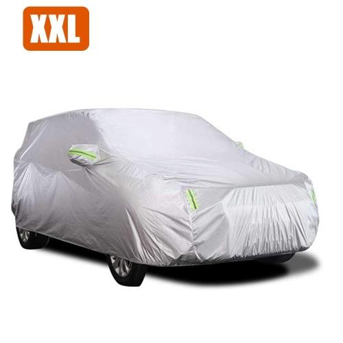 Tampa do carro Cheio de Sedan Covers com Tira Reflexiva Proteção Solar À Prova de Poeira UV Resistente A Riscos-XXL Universal