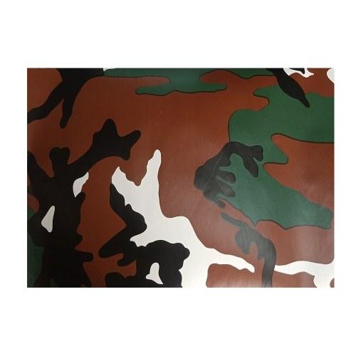 Woodland Camouflage Vinyl Wrap Car Camouflage Color Film Color Change Sticker Decal Film Air Release for Car DIY Decoration (50*152cm)