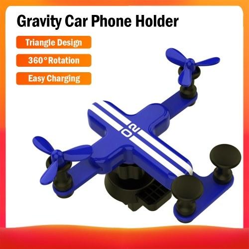 Soporte para teléfono para coche Soporte para coche por gravedad en soporte de montaje de clip de ventilación de aire para todos los teléfonos