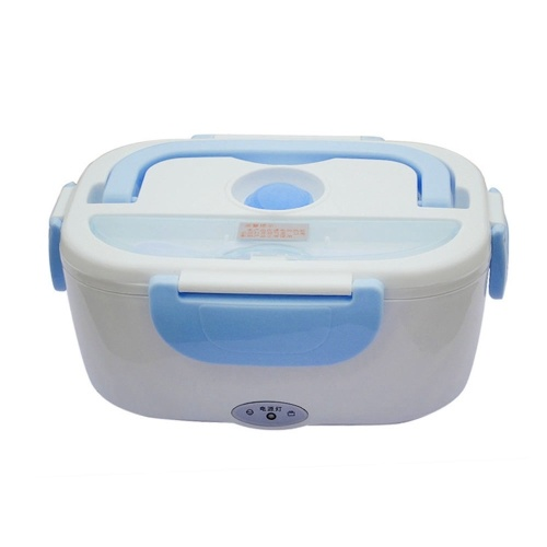 Car Electric Heating Lunch Box Portable 12V Bento Meal Heater Food Grade Plastic Keeping Food Warm Blue